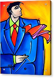 Incognito Original Pop Art Acrylic Print by Tom Fedro - Fidostudio