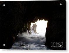 Incoming Tide Big Sur Acrylic Print by Bob Christopher