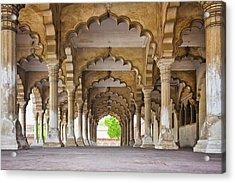 India, Uttar Pradesh, Agra, Agra Fort, Hall Of Public Audience Acrylic Print by Bryan Mullennix