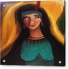 Indian Girlfriend Acrylic Print by Vickie Meza