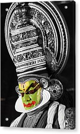 Indian Kathakali Dance Of Kerela 3 Acrylic Print by Sumit Mehndiratta