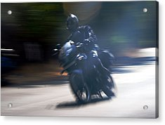Indian Rider Leans Acrylic Print by Kantilal Patel
