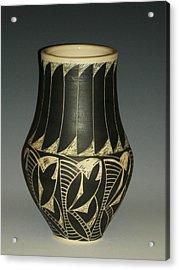 Indian Vase Acrylic Print by Ken McCollum