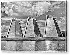 Indianapolis Pyramids Acrylic Print by David Haskett