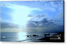 Indonesian Beach Sunset Acrylic Print by Samantha Mills