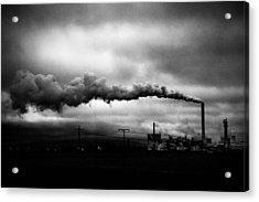 Industrial Eruption Acrylic Print by Ilker Goksen