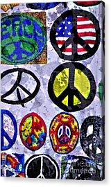 Inner Peace Acrylic Print by Juls Adams