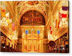 Inside St Louis Cathedral Jackson Square French Quarter New Orleans Accented Edges Digital Art Acrylic Print by Shawn O'Brien