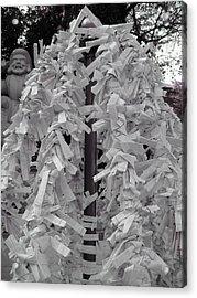 Inside Temple Garden Acrylic Print by Naxart Studio