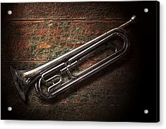Instrument - Horn - The Bugle Acrylic Print by Mike Savad