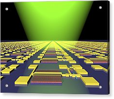Integrated Nanowire Circuit, Artwork Acrylic Print by Lawrence Berkeley National Laboratory