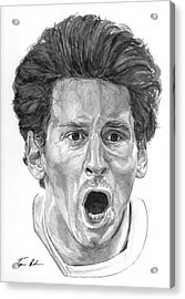 Intensity Lionel Messi Acrylic Print by Tamir Barkan