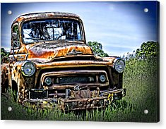 International Truck Alone And Rusting Acrylic Print by William Havle