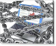 Internet Censorship, Conceptual Artwork Acrylic Print by David Mack