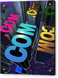 Internet City Acrylic Print by Victor Habbick Visions