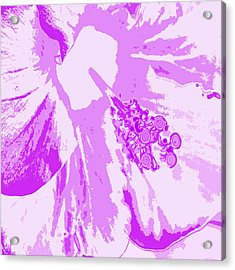 Intimate Purple Acrylic Print by Keren Shiker
