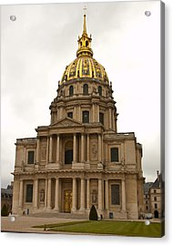 Invalides Paris France Acrylic Print by Jon Berghoff