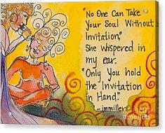 Invitation In Hand Acrylic Print by Ilisa  Millermoon
