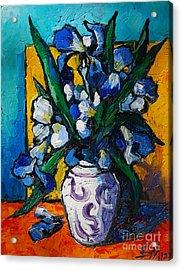 Irises Acrylic Print by Mona Edulesco