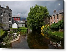 Irish Houses Acrylic Print by Louise Fahy