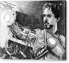 Iron Man Acrylic Print by Gil Fong
