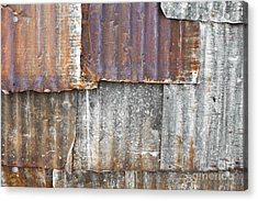 Iron Weathering A Variety Of Wall Acrylic Print by Chavalit Kamolthamanon