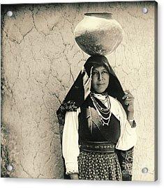 Isleta Pueblo Woman 1910 Acrylic Print by Padre Art