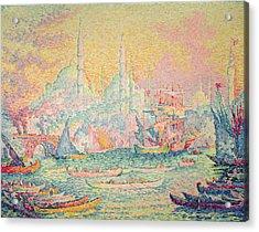 Istanbul Acrylic Print by Paul Signac