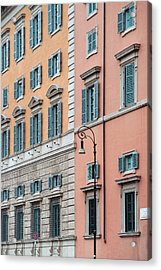 Italian Facade Acrylic Print by Mark Greenberg