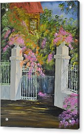 Italian Garden Acrylic Print by James Higgins