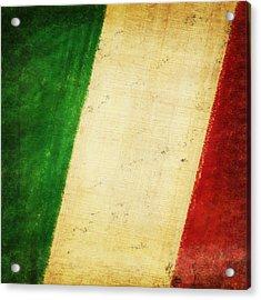 Italy Flag Acrylic Print by Setsiri Silapasuwanchai