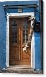 Italy Old Door Acrylic Print by Joana Kruse