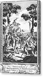 Italy: Protestant Martyrs Acrylic Print by Granger