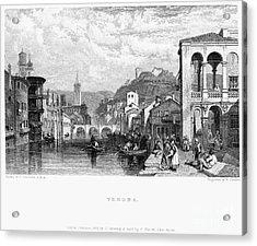 Italy: Verona, 1833 Acrylic Print by Granger
