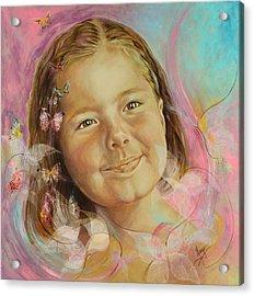 Ivana's Portrait Acrylic Print by Karina Llergo Salto