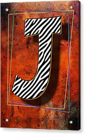 J Acrylic Print by Mauro Celotti