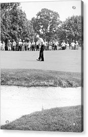 Jack Nicklaus Drops Putt At 1964 Us Open At Congressional Country Club Acrylic Print by Jan W Faul