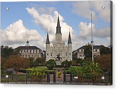 Jackson Square New Orleans Acrylic Print by Bill Cannon