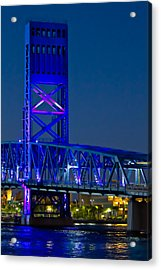 Jacksonville Skyline Acrylic Print by Debra and Dave Vanderlaan