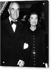 Jacqueline Kennedy In Her First Public Acrylic Print by Everett