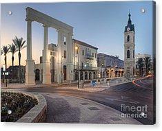 Jaffa Clock Tower Acrylic Print by Noam Armonn