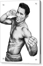 Jake Shields - Strikeforce Champion Acrylic Print by Audrey Snead