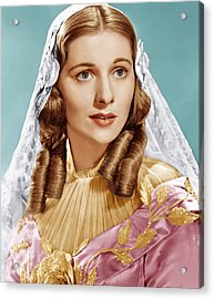 Jane Eyre, Joan Fontaine, 1943 Acrylic Print by Everett
