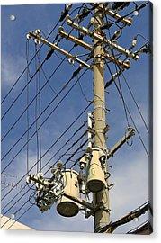 Japan Power Utility Pole Acrylic Print by Daniel Hagerman