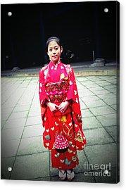 Japanese Girl Acrylic Print by Eena Bo