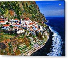 Jardim Do Mar Acrylic Print by Dean Wittle