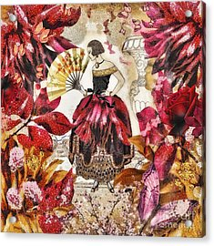 Jardin Des Papillons Acrylic Print by Mo T