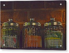 Jars Of Assorted Teas Acrylic Print by Sandi OReilly