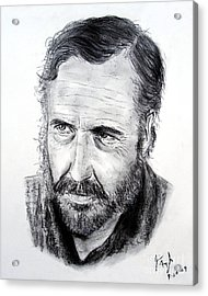 Jason Robards Acrylic Print by Jim Fitzpatrick