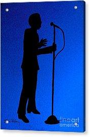 Jazz Singer Acrylic Print by Julie Brugh Riffey